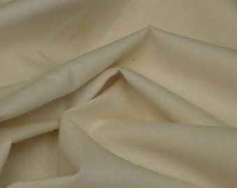 Unbleached Muslin |  Natural Muslin | Cotton Muslin |  38 Inches Wide | Muslin Sold By The Yard | Doll Making Muslin |  1 Yard