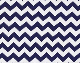 "Navy chevron SALE Riley Blake designs  50"" cut 1 yard and 14"" fabric"