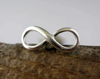 Sterling Silver Infinity,  18x8mm, 1 Charm, Ready to Ship!