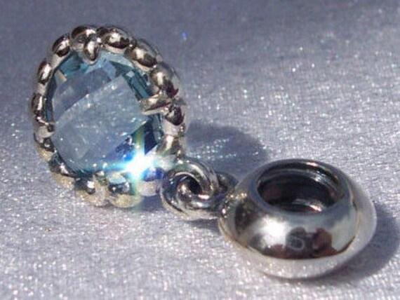 d23166220 ... Pandora Cool Breeze Bracelet Charm Retired Blue Topaz ...