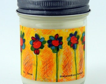 Soy Candle Grove Scent- Many Flowers A.S.
