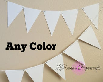 Banner, Bunting, Flags, Party Decor,White bunting, White Flags