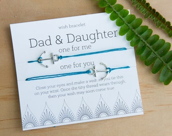 Dad and Daughter Wish Bracelet, Gift for Dad, Thank You Gift For Dad, set of two bracelets, Father's Day Gift, Dad and Daughter Gift, Father