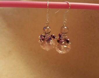 Draw bench Beads & crystal handmade earrings