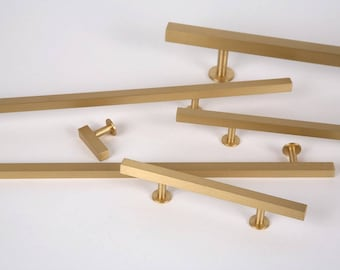 Brushed Brass Cabinet Knob -Style 31- Drawer Pulls and Cabinet Knobs