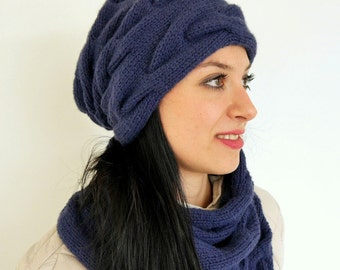 Cable Beanie - KNITTING PATTERN (109)