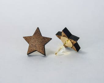 Star Earrings from recycled material