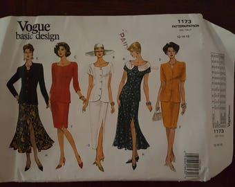 Vintage Vogue Basic Design 1173 Uncut Sewing Pattern Sizes 12 - 14 - 16