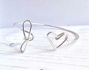 Initial Bracelet, Personalized Bracelet, Heart Bracelet, Personalized Bracelet For Women, Bridesmaids Bracelet, Custom Jewelry