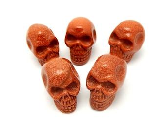 Goldstone Skull Shaped UNDRILLED (RK14B6-07)