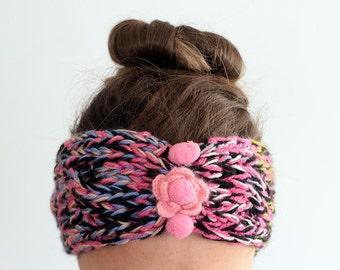 Knitted Headband, Chunky Headband, Ear Warmer, Winter Headband