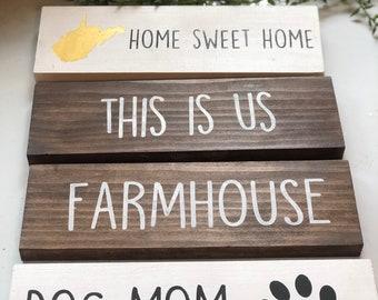 Mini Wood Sign ----> you pick the word