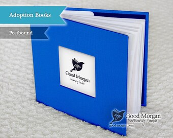 Adopted Baby Memory Book - Cobalt Blue