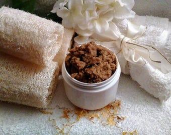 Botanical Sugar Scrub~Lemongrass Face Scrub~Lemongrass Face Cleanser~Exfoliating Scrub~Organic Face Scrub~Face Cleanser~