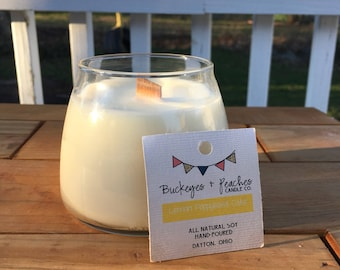 Lemon Poppy Cake // 10 oz Soy Candle