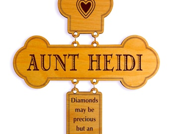 Gift for Auntie-Aunt Gifts-Personalized Appreciation Gift from Niece-Aunt Birthday-Mother's Day-Cross