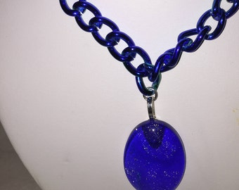 """Chain necklace with """"Ocean"""" Pendant"""