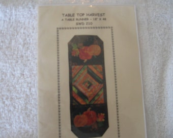 Pattern for a Quilted Table Runner called Table Top Harvest by Connie Spurlock and Teri Chandler