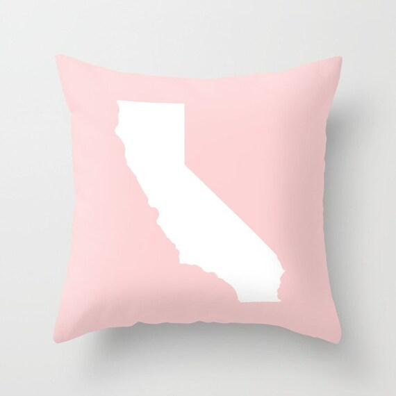California Throw Pillow . Millennial Pink Pillow . Modern Pillow . Blush Pink Cushion . Pink Pillow . California State Gift 14 16 18 20 inch