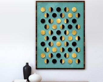 Wall calendar Moon 2018, Moon Calendar 2018, lunar calendar, home decor, Moon Phase Calendar, moon art, office decor, wall decor