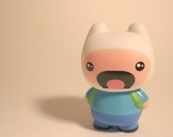 Adventure Time inspired Finn the Human Vinyl Toy - HAPPY