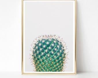 Impression de cactus Cactus imprimable, minimaliste murale, Art, Art Digital vert, téléchargement numérique, affiche grand format, Cactus Art, Decor de sud ouest