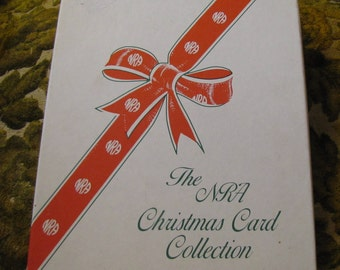 Vintage NRA Christmas Card Set in Original Box - 12 Twelve Days of Christmas w 12 Cards and 12 Envelopes - ALL UNUSED!