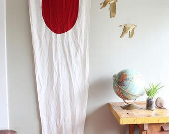Vintage Nautical Signal Flag Pennant Red White