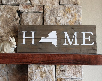 Wisconsin home sign reclaimed wood sign wi home sign for Reclaimed wood new york