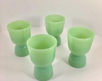 Fire King Jadeite Breakfast Line Egg Cups