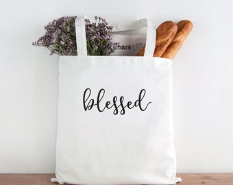 Blessed, blessed tote, thanksgiving tote, inspirational, thankful, thanksgiving, grateful, oh so blessed