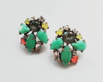 Stella and Dot Naomi cluster earrings.
