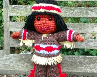 CROCHET pdf tutorial/pattern: little Indian Enapay