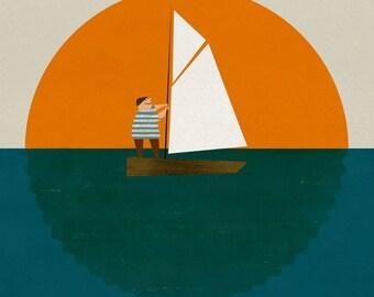 Little sailor print