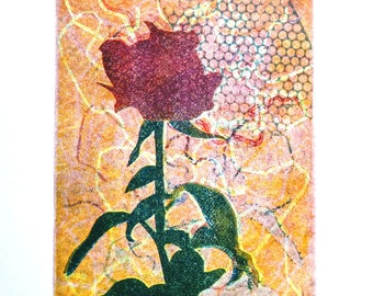 Rose # 5 - One of a Kind Monotype