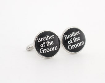 Brother of the Groom Gift, Brother of the Groom Cufflinks, Wedding Cufflinks for Brother, Future Brother in Law Gift, Cool Gift for Brother