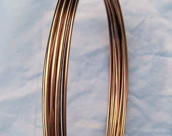 Bronze Round Wire 10 Gauge Dead Soft Great for Very Thick Wire Wrapping Cut to Order