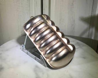 copper mold, vintage copper mold, vintage cake mold, copper loaf pan, decorative copper mold