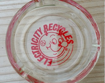 "Vintage Reddy Kilowatt ""Electricity Recycles"" Ashtray"