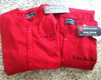 Custom Embroidery for your johnwear long johns