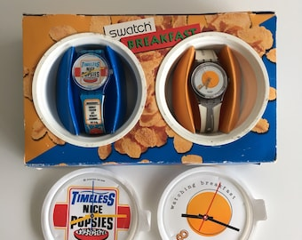 Swatch watch, horloge, Breakfast. With box.