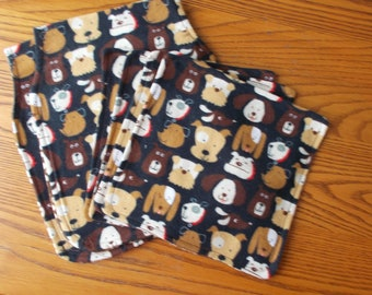 Baby Dogs Burp Cloths and Washcloths