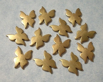 12 Butterfly Stampings 13mm