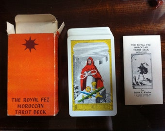 Vintage 1975 The royal fez moroccan tarot deck/made in Switzerland by AGMuller