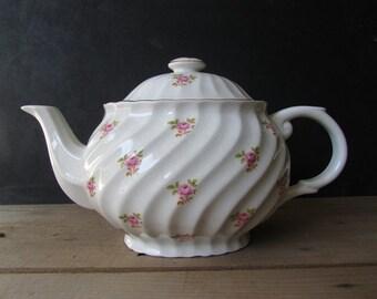 China Teapot Vintage Straffordshire Old Foley Rose Teacpot