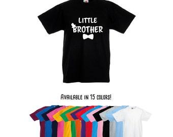 Little brother shirt, pregnancy announcement shirt, boy siblings shirt, new baby announcement, new brother shirt, baby boy shirt, baby gift