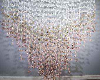Cone Garland Backdrop: Metallic Ombre