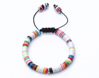 Mens - Womens Bracelet *African Disc white*