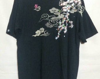 Sukajan tshirt XL SIZE..sakura embroidery motif