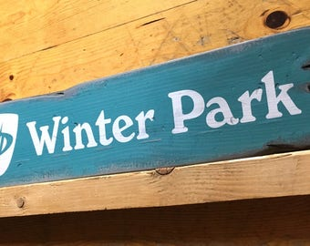 Winter Park Ski Resort, Handcrafted Rustic Wood Sign, Ski Resort Sign, Mountain Decor for Home and Cabin, 1133